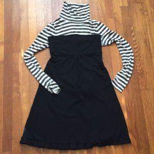 J. Crew 100% Black Wool Strapless Dress